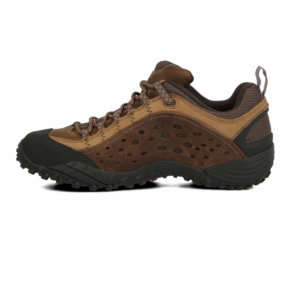 best choice discount big discount of 2019 Details about Merrell Mens Intercept Brown Grain Leather Trail Outdoors  Walking Hiking Shoes