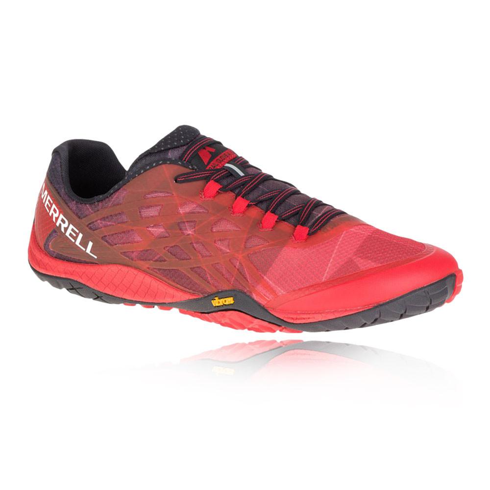 Merrell  Herren Trail Glove 4 Running Schuhes Trainers Turnschuhe ROT Sports Breathable