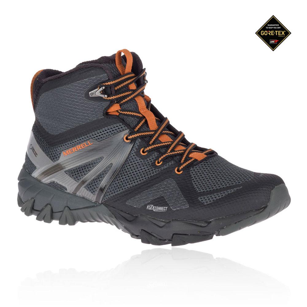 Merrell Herren MQM Flex Mid GORE-TEX Trekking Schuhe Stiefel Wanderschuhe Grau