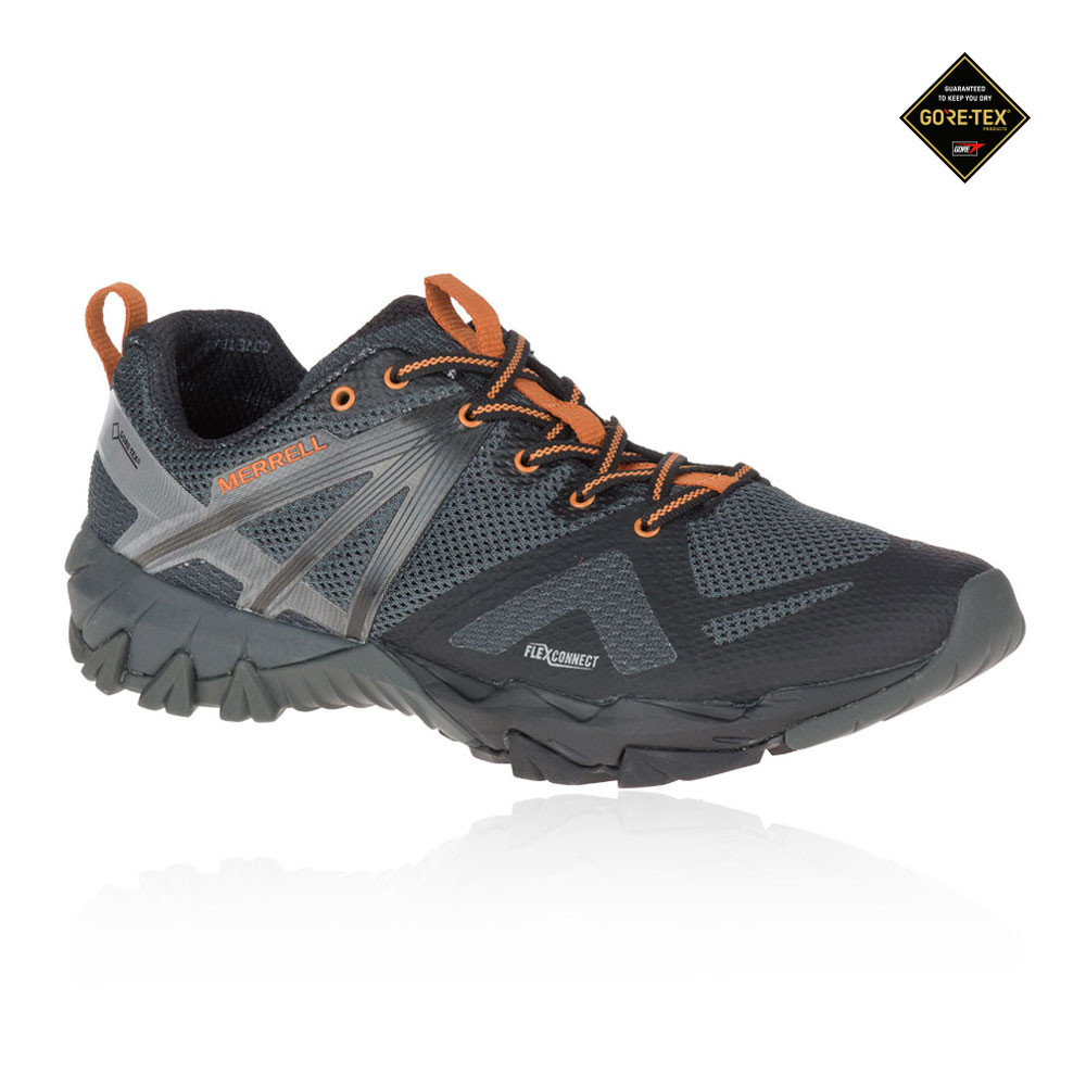 7874ddb20 Details about Merrell Mens MQM Flex GORE-TEX Trail Running Shoes Trainers  Sneakers Black Grey