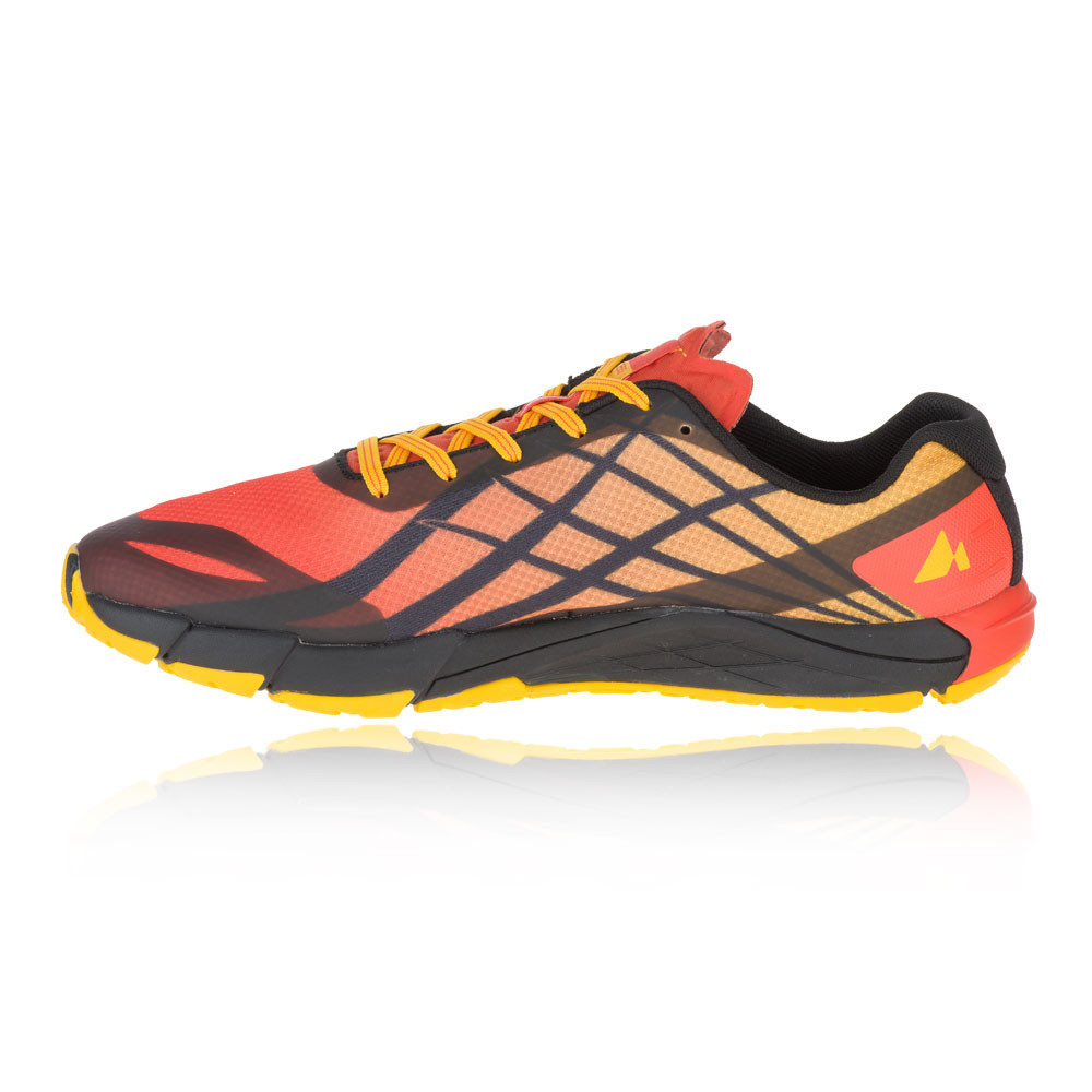 Flex De Merrell À Orange Chaussures Hommes Access Pied Course Baskets Jaune Bare wgqrXRqxt