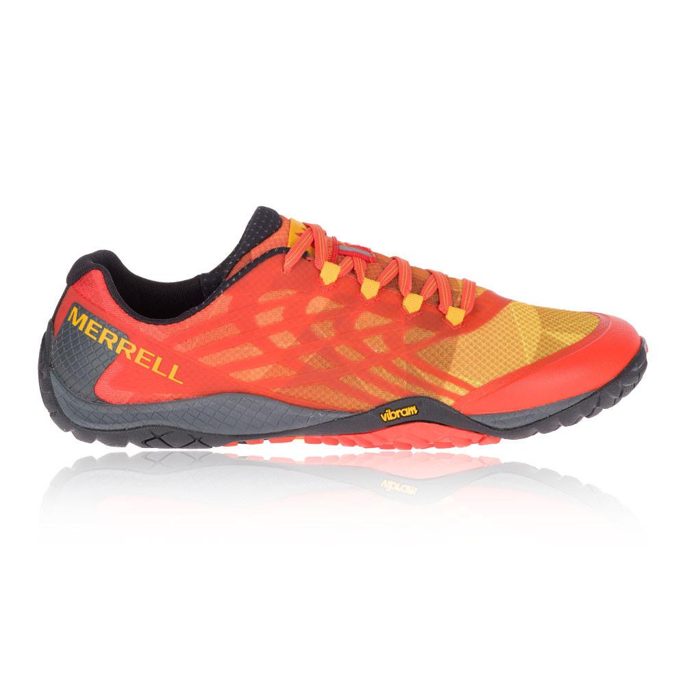 À Course Détails Chaussures Sur Glove Rouge De Trail Merrell Hommes Pied Orange Baskets 4 QCxBeEoWrd