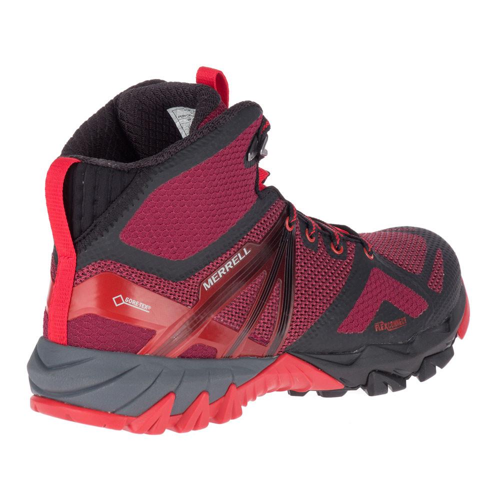 3fff62aba33 Details about Merrell Womens MQM Flex Mid GORE-TEX Walking Boots Black Pink  Red Sports