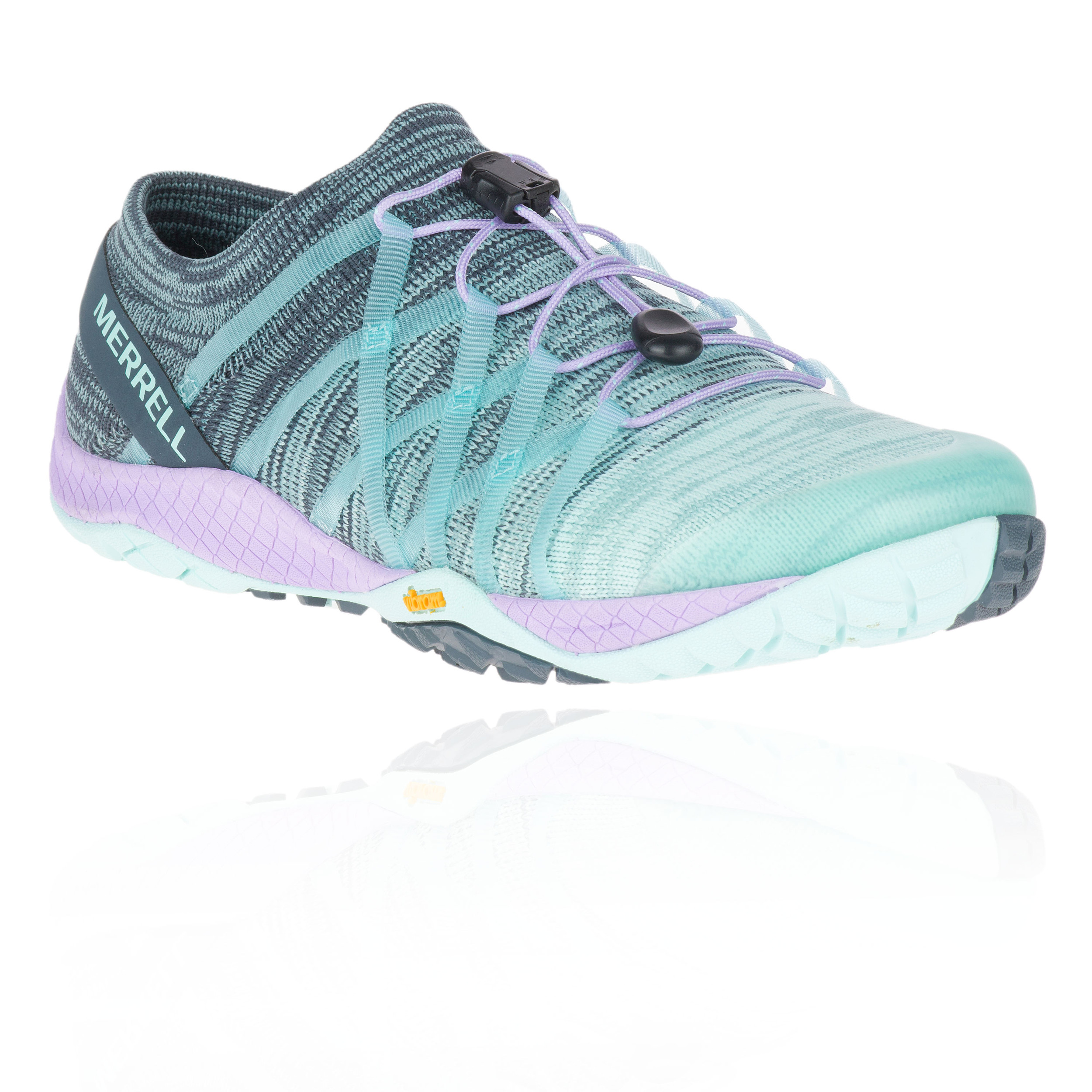 8923063f Details about Merrell Womens Trail Glove 4 Knit Running Shoes Trainers  Sneakers Green Sports
