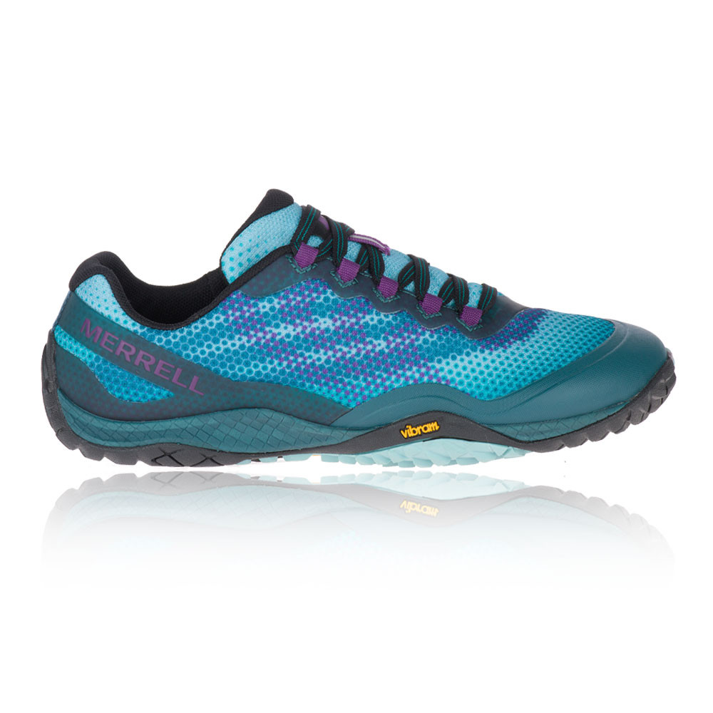 Details about Merrell Womens Trail Glove 4 Knit Running Shoes Trainers Sneakers Green Sports