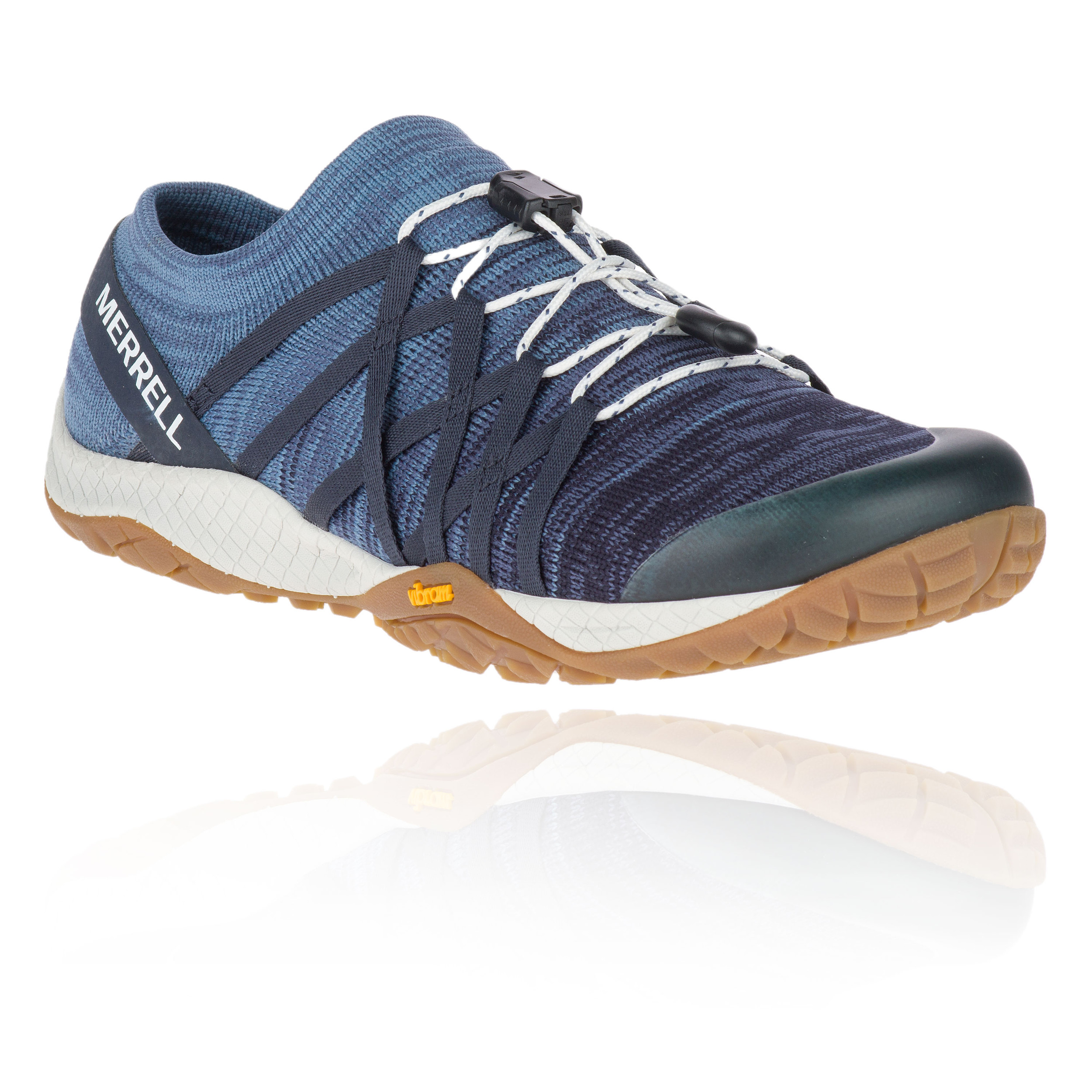 526a3e1e Details about Merrell Womens Trail Glove 4 Knit Running Shoes Trainers  Sneakers Blue Sports
