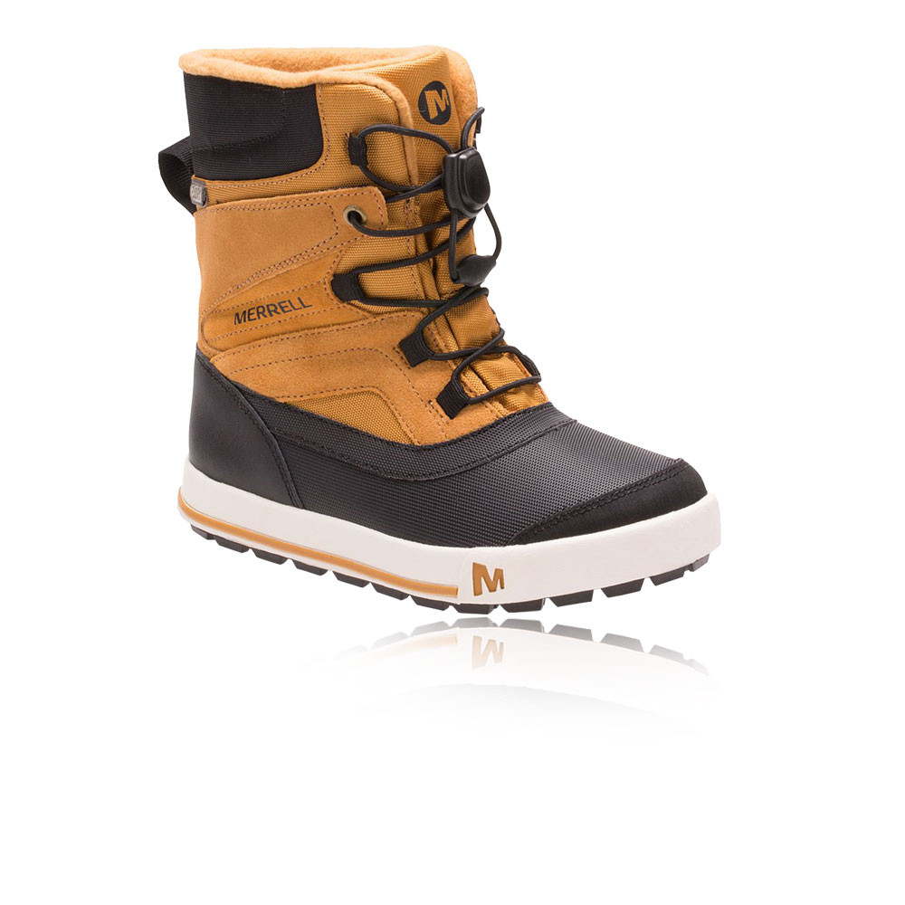 a8205df21c Details about Merrell Junior Snow Bank 2.0 Waterproof Walking Boots Brown  Sports Outdoors Warm