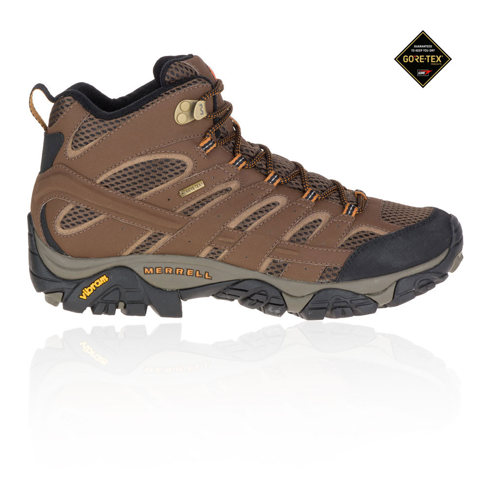 8722718ab4d Details about Merrell Mens MOAB 2 Mid GORE-TEX Walking Boots Brown Sports  Outdoors Waterproof