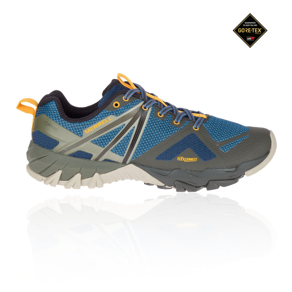 2fd85219 Details about Merrell Mens MQM Flex GORE-TEX Walking Shoes Blue Green  Yellow Sports Outdoors