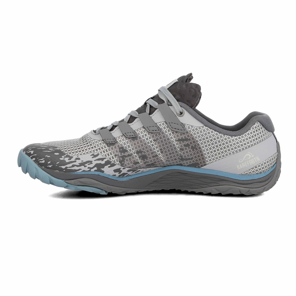 Details about Merrell Womens Trail Glove 5 Running Shoes Trainers Sneakers Grey Sports