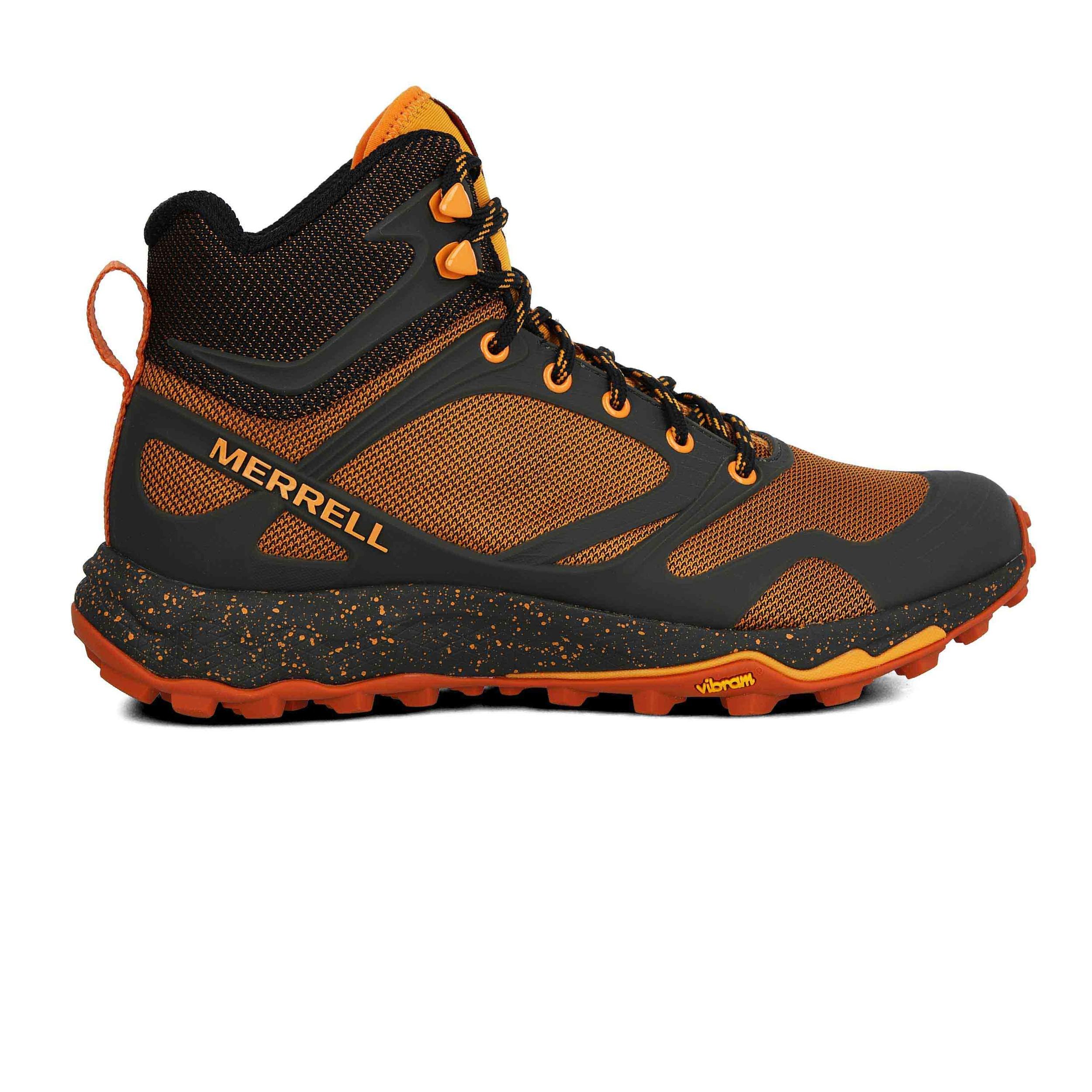 Detalles de Merrell Hombre Altalight Knit Mid Caminar Botas Naranja Deporte Exterior
