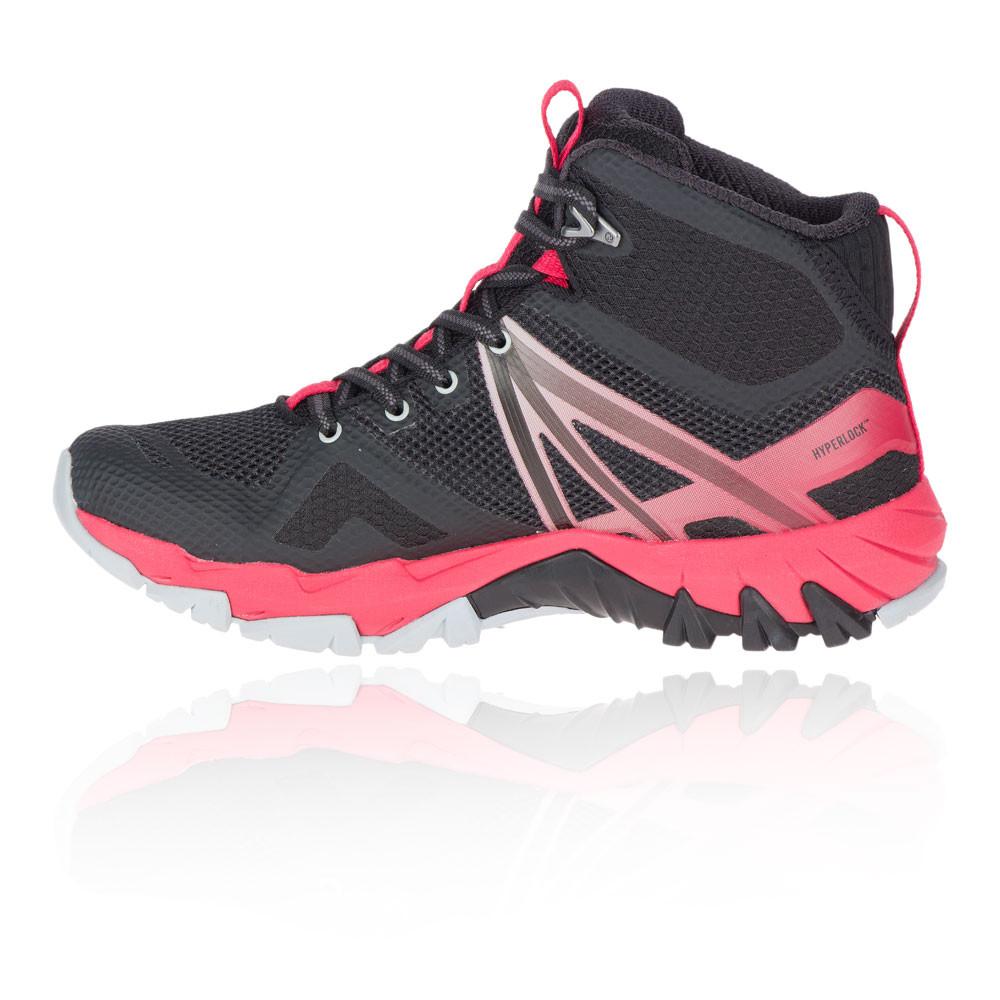 Merrell Femme MQM Flex Mid Gore-Tex Walking Boots Noir Rose Sports Outdoors