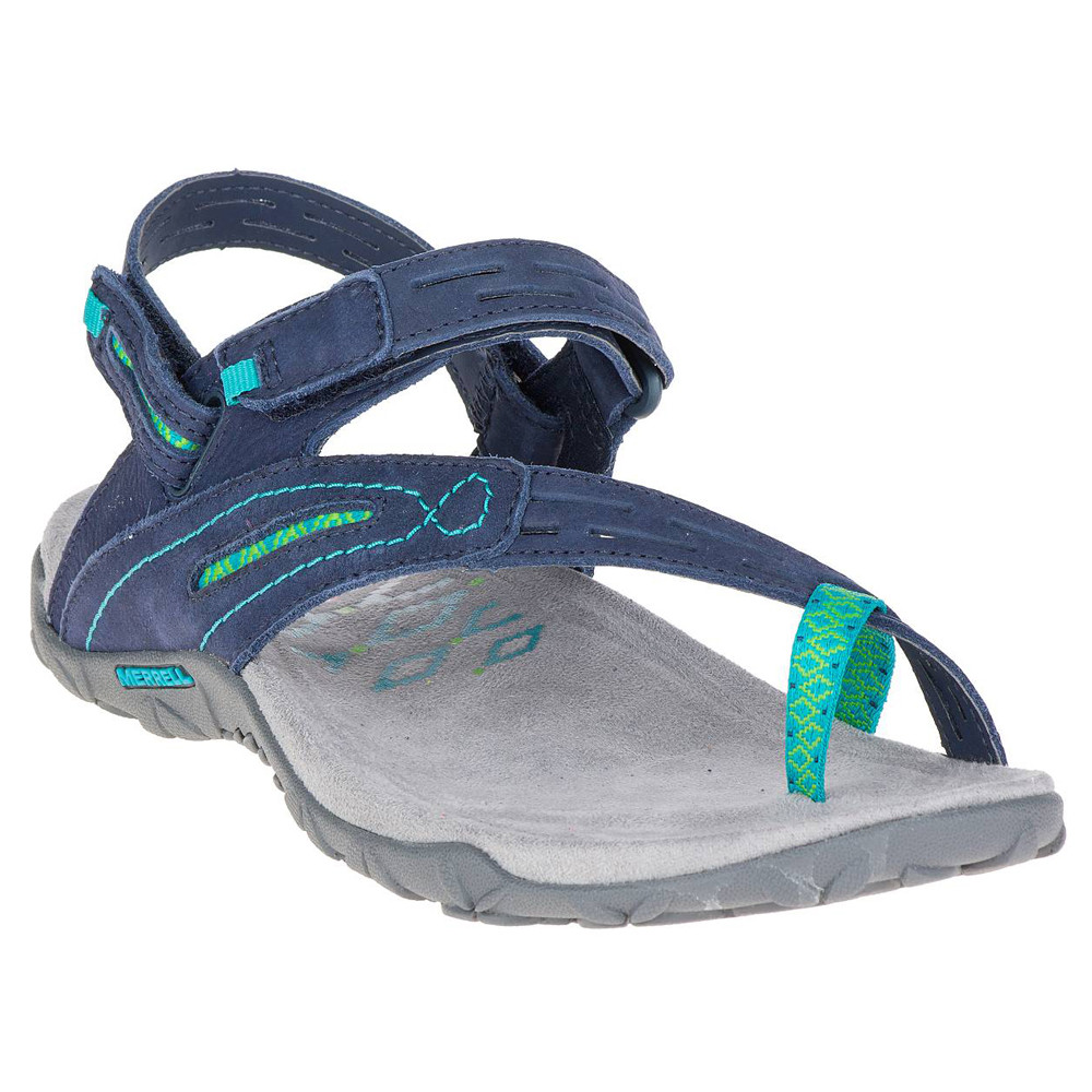 a5f7a45c629e1 Details about Merrell Womens Terran Convertible II Walking Shoes Sandals  Blue Navy Sports