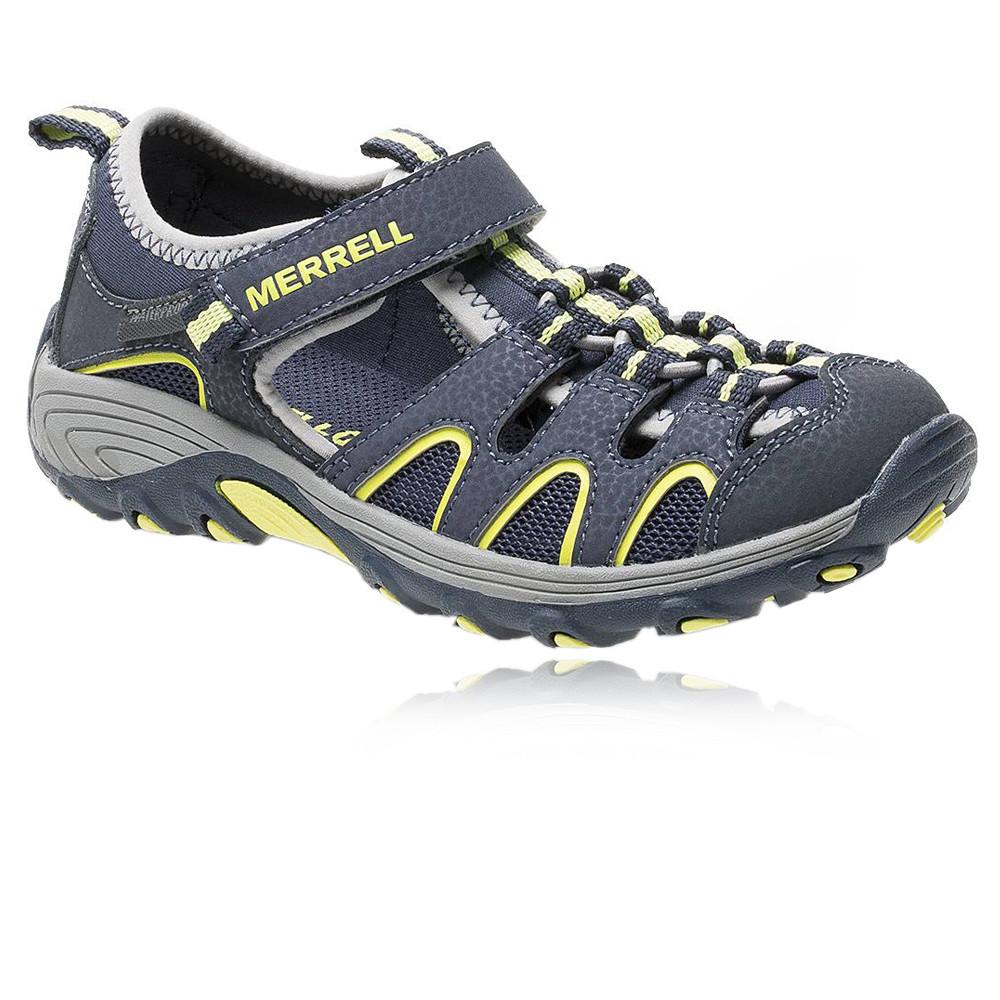 Merrell-Hydro-Hiker-H20-Junior-Yellow-Grey-Velcro-