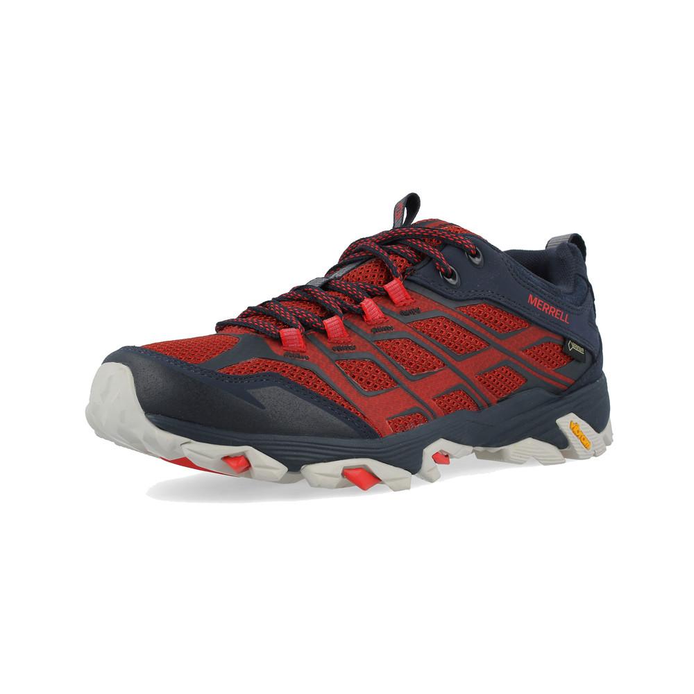 Merrell-Moab-FST-Homme-Bleu-Rouge-Impermeable-Gore-Tex-Chaussures-De-Marche-Baskets