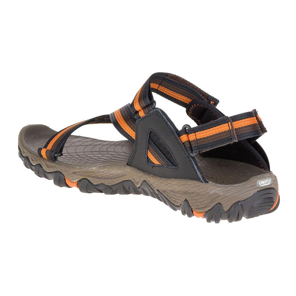 Merrell All Out Blaze Web Mens Orange Black Walking Hiking Summer Sandals  Shoes