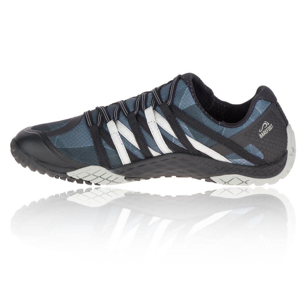 Merrell Trail Glove 4 Womens Black Blue Trail Running Sports Shoes Trainers