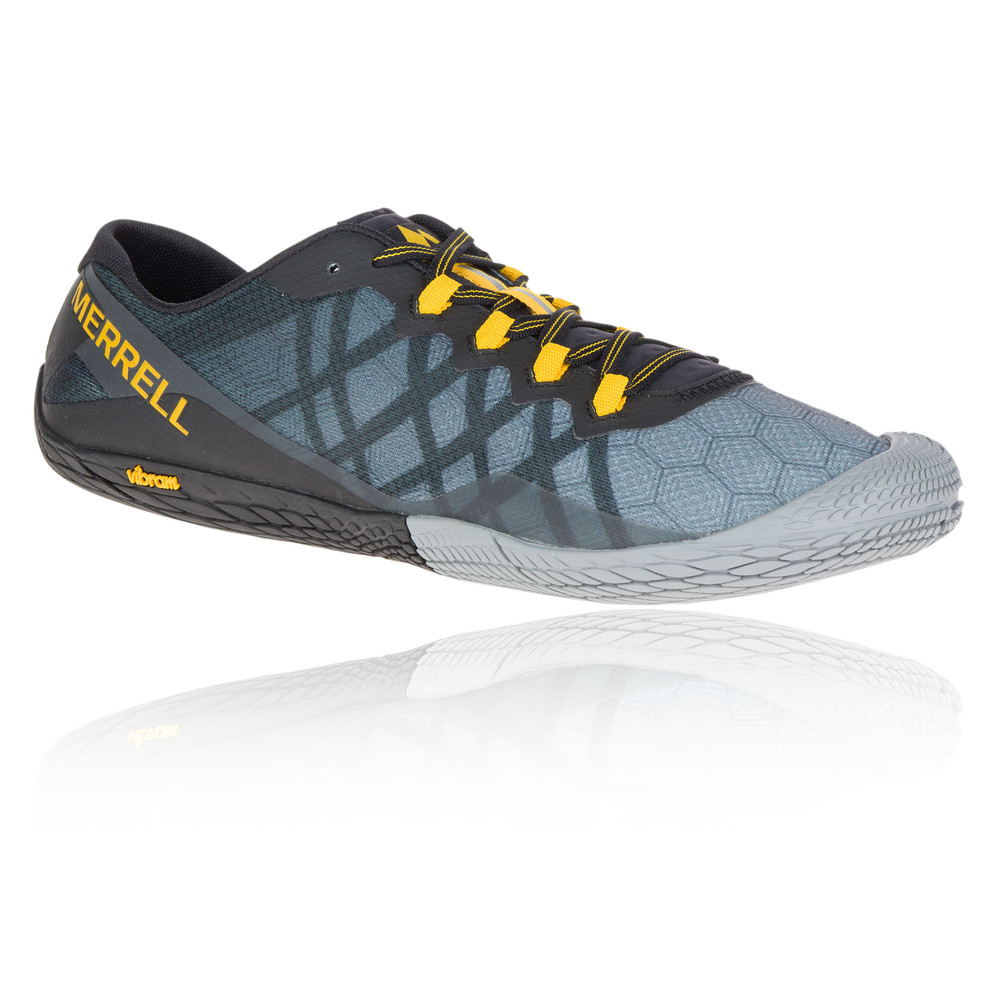 Merrell Vapour Glove 3 Mens Grey Trail Running Sports Shoes Trainers ... b624a72af6