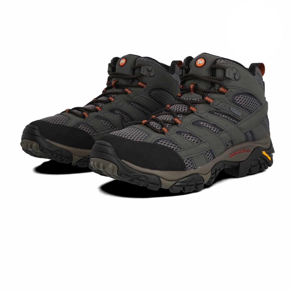Merrell Moab 2 Mid  Herren Grau Grau Herren Gore Tex Walking Trekking Schuhes Stiefel 847903