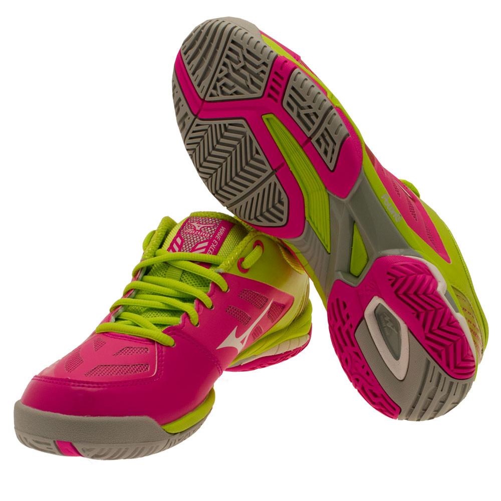 huge discount 2fcc2 272f9 Mizuno Wave Exceed Sl Ac Femmes Rose Jaune Tennis Sport Chaussures Baskets