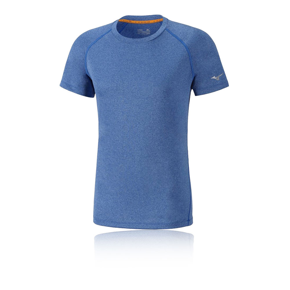 Mizuno Inspire Mens Blue Short Sleeve Crew Neck Running T ...