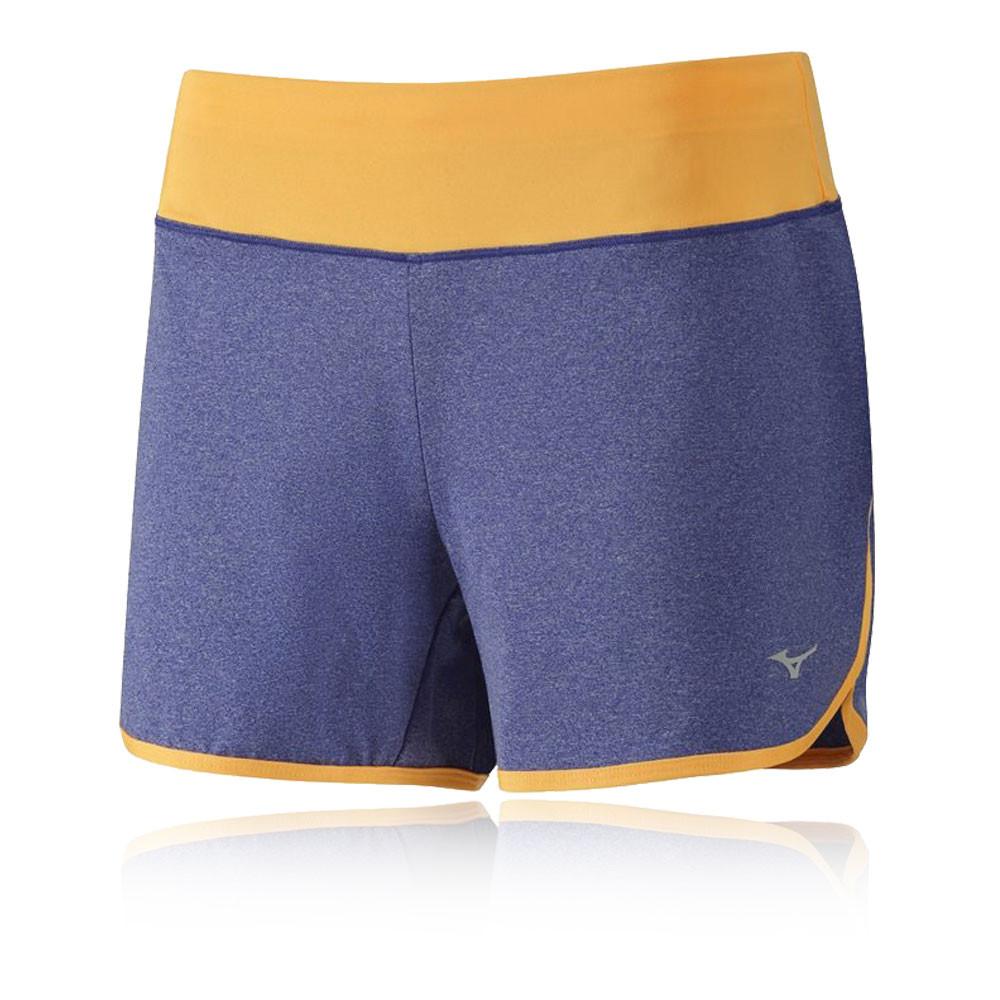 mizuno active damen laufhose kurze hose sport shorts jogginghose mehrfarbig ebay. Black Bedroom Furniture Sets. Home Design Ideas