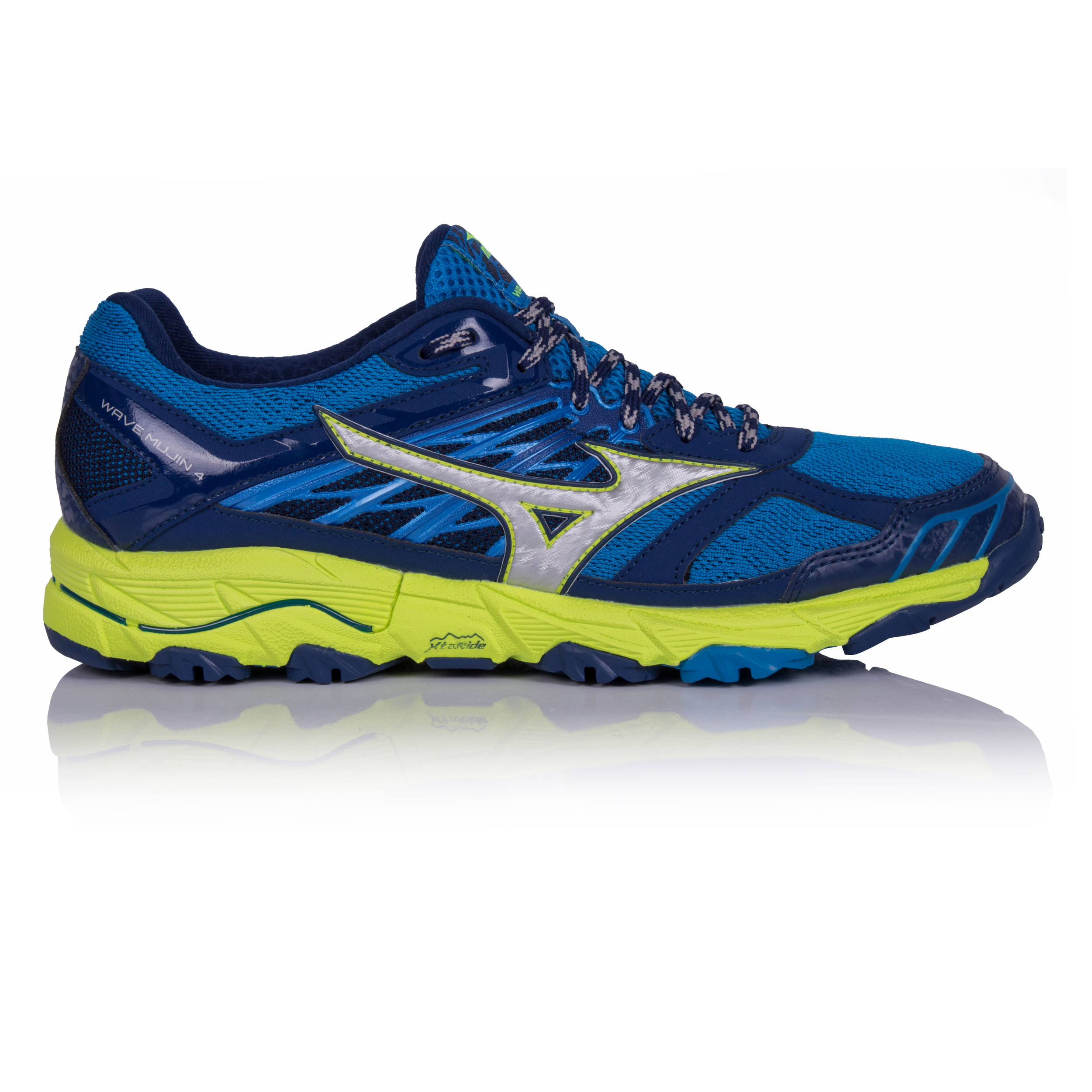 Mizuno Wave Mujin 4 Mens Blue Trail Running Sports Shoes Trainers Sneakers