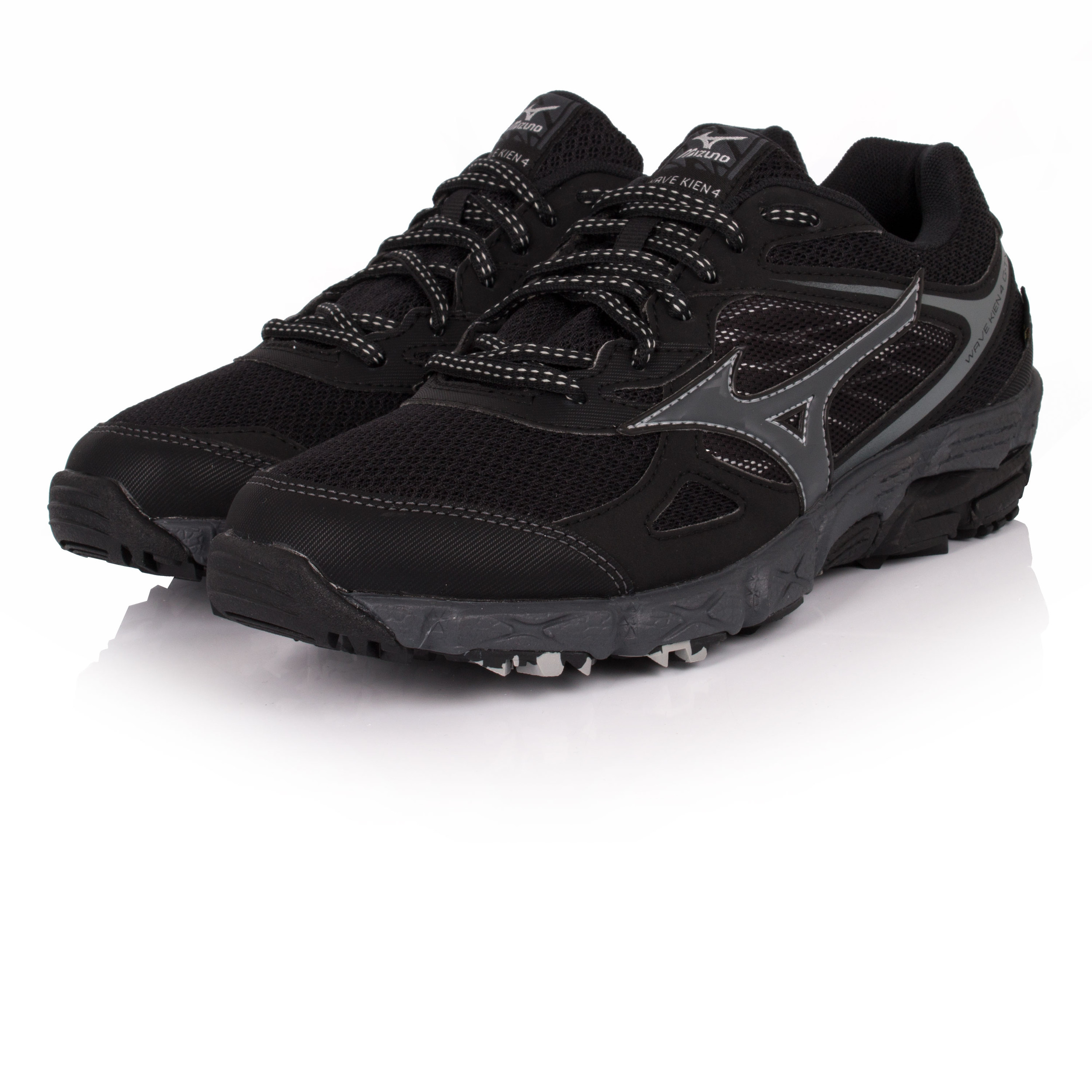 mizuno wave kien 4 mens black gore tex trail running sports shoes trainers ebay. Black Bedroom Furniture Sets. Home Design Ideas