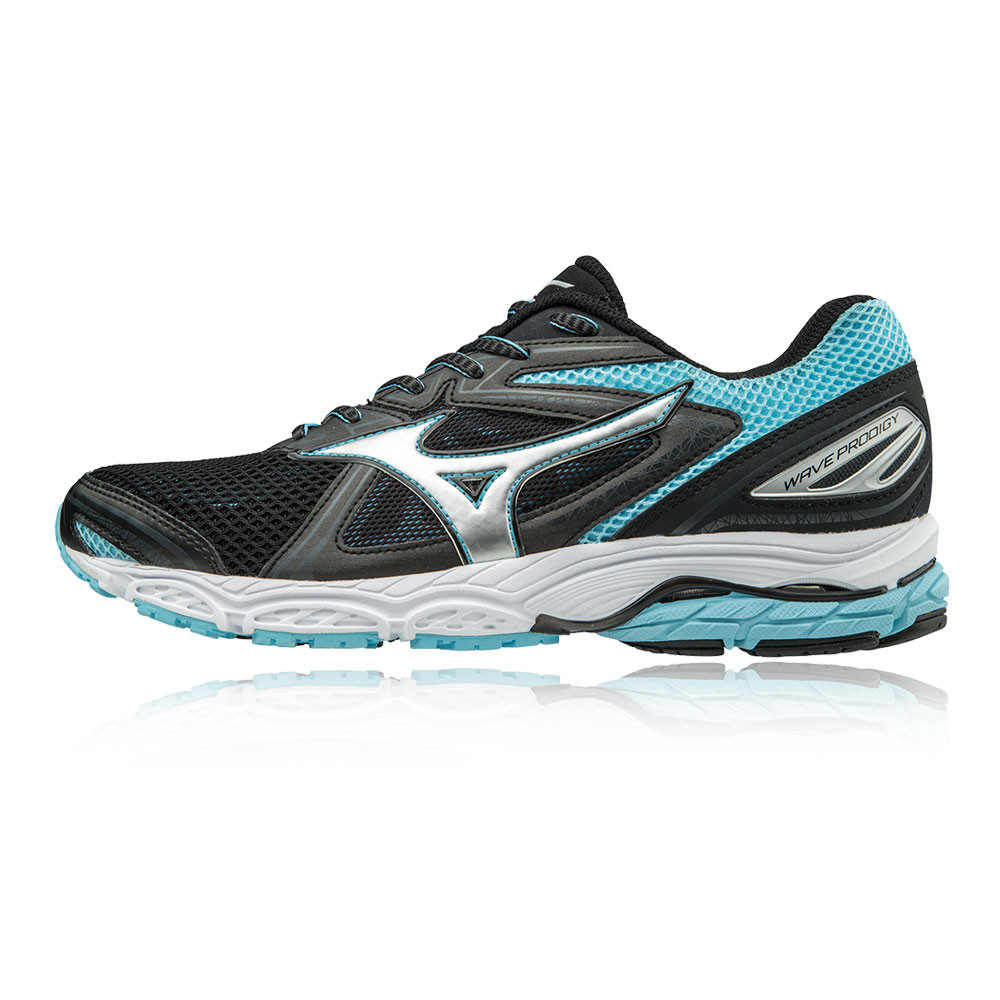 Details about Mizuno Wave Prodigy Womens Black Cushioned Running Sports Shoes  Trainers f4e914ed64f3