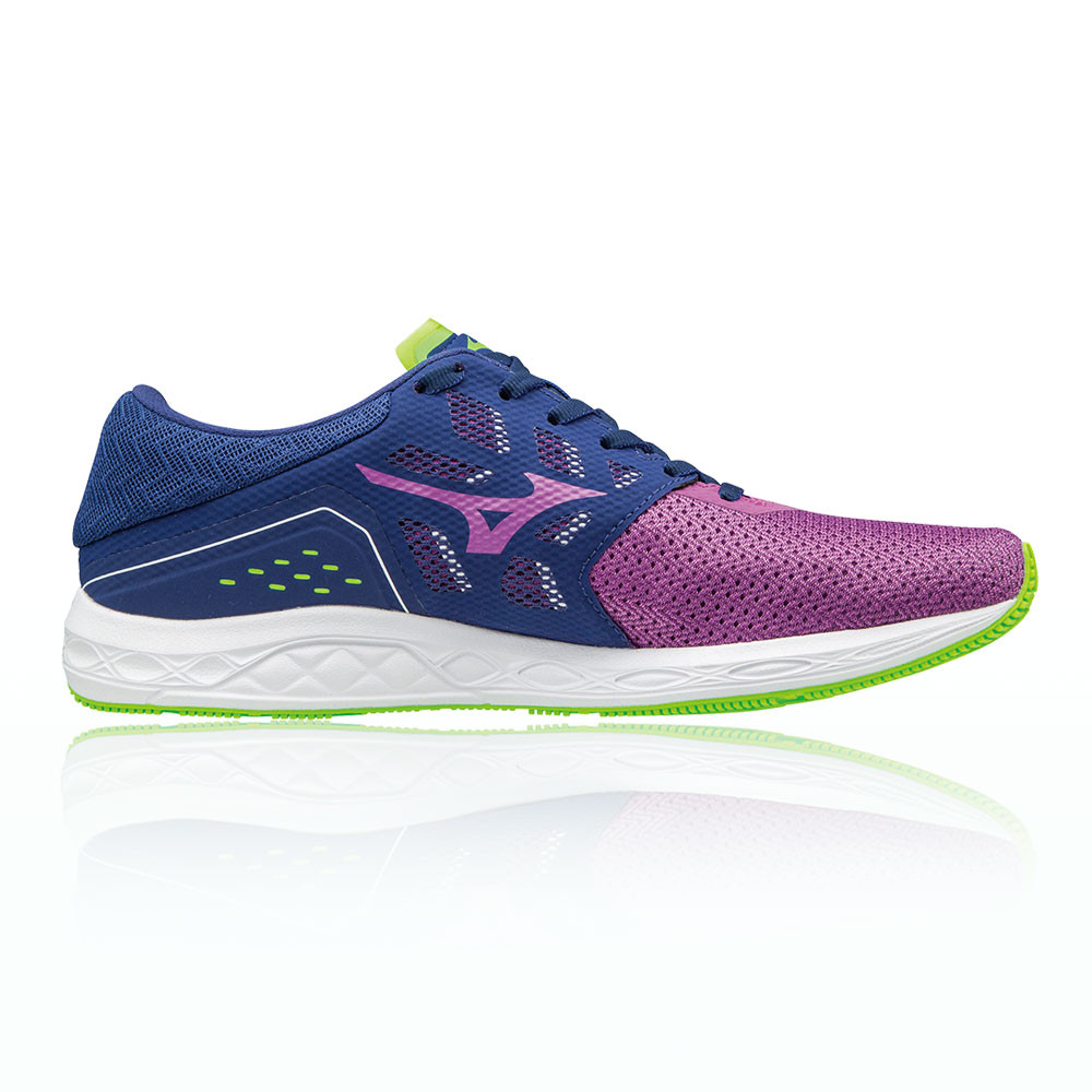 Mizuno Wave Sonic Womens Purple Running Road Sports Shoes Trainers Pumps a449ec409c4