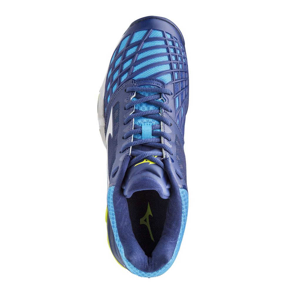 Mizuno Wave Intense Tour 3 All Mens Blue Court Tennis Sports Shoes Trainers 56bf379fc10