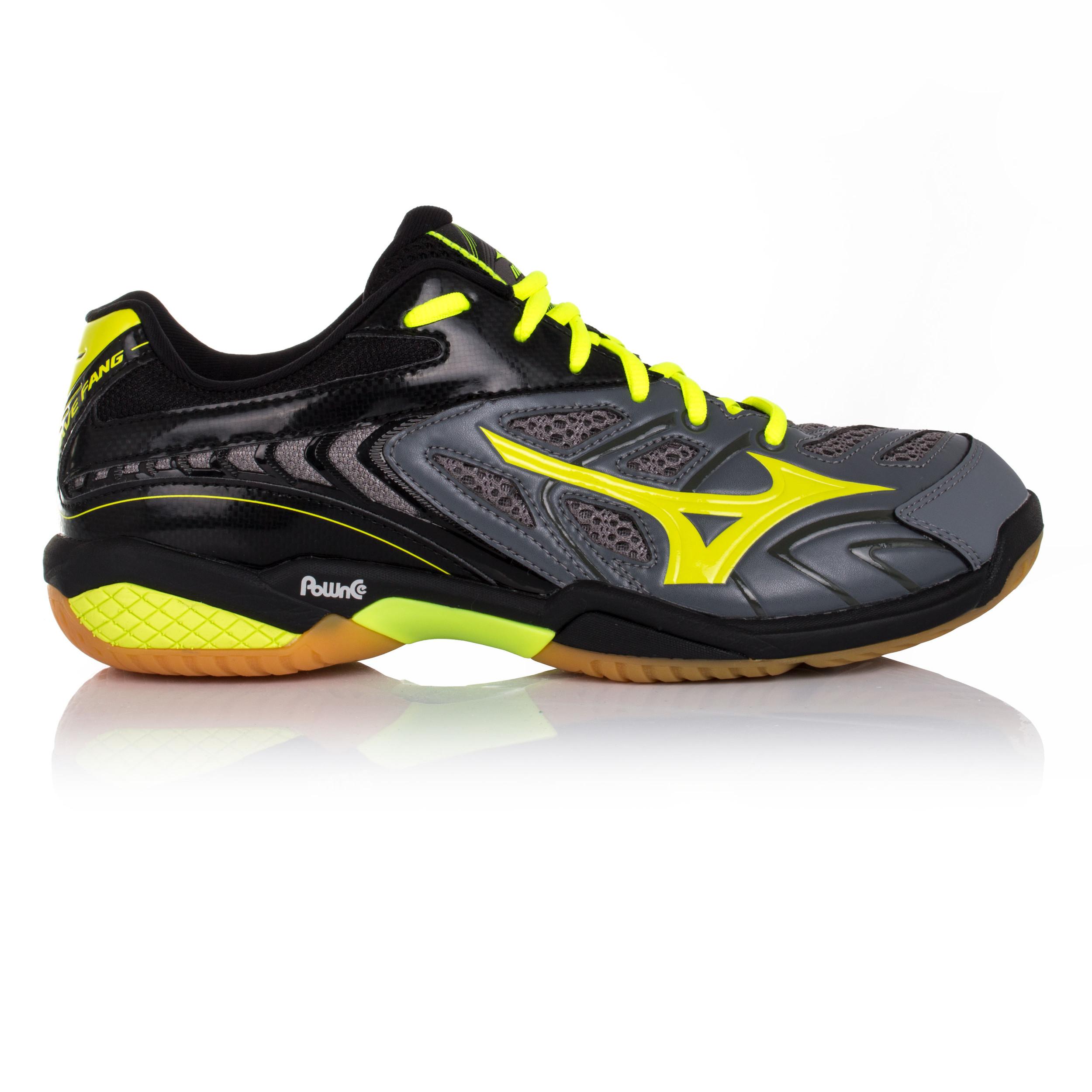 Mizuno Wave Fang SL Mens Grey Badminton Indoor Court Shoes Trainers Pumps