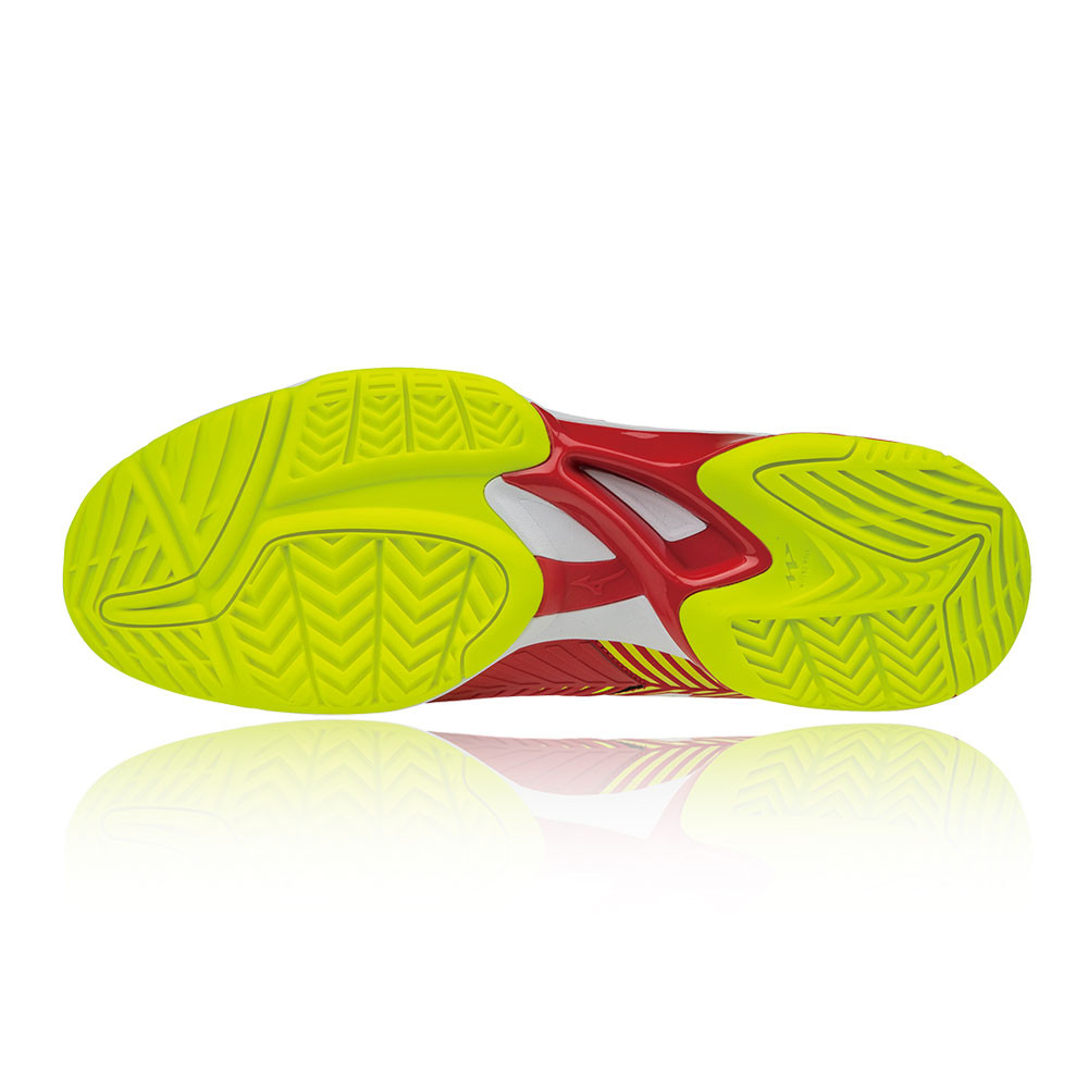 separation shoes 7a004 24431 Mizuno Mens Wave Exceed Tour 3 All Court Tennis Shoes Red Yellow Sports  Trainers