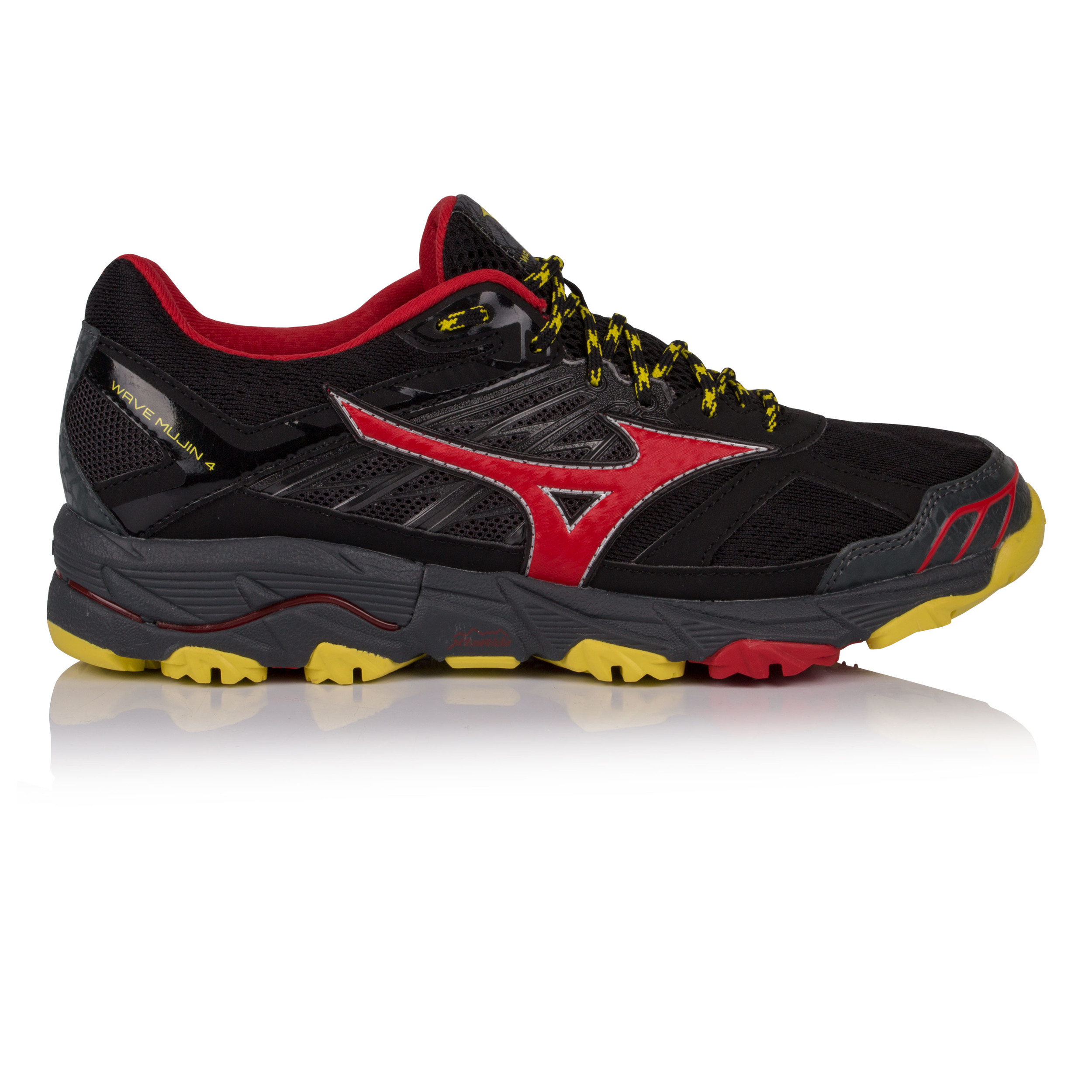 5f86eb433fae Details about Mizuno Mens Wave Mujin 4 Trail Running Shoes Trainers Sneakers  Black Sports