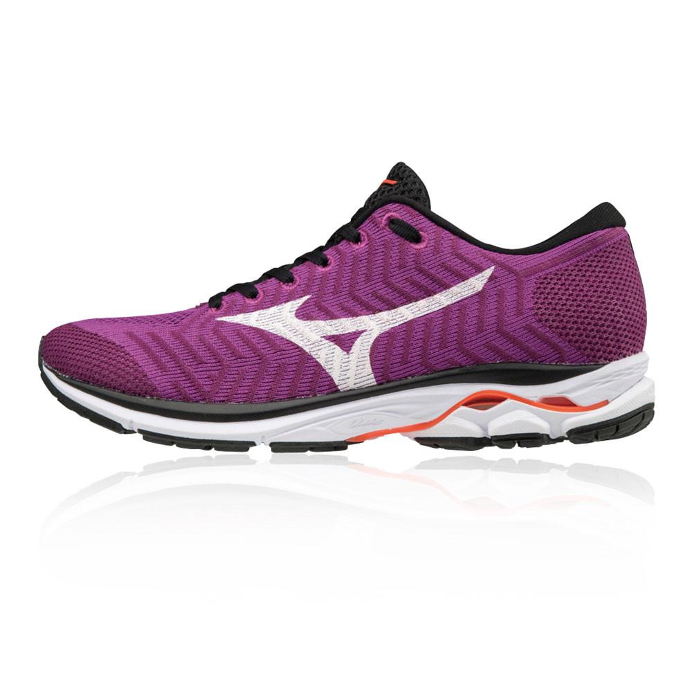 9b8cb914e0 Mizuno Mujer Wave Rider WaveKnit R1 Correr Zapatos Zapatillas Violeta  Entrenar