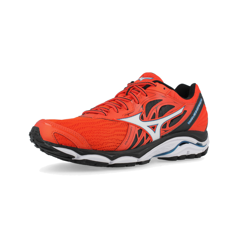 Mizuno Mens Wave Inspire 14 Running Shoes Trainers Sneakers Orange Red  Sports 92ea65a7392
