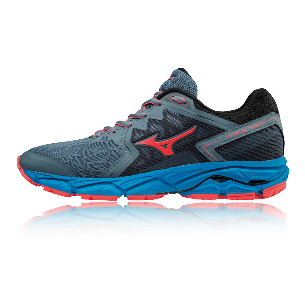 Mizuno Womens Wave Ultima 10 Running Shoes Trainers Sneakers Blue Grey  Sports 254d4f096a4