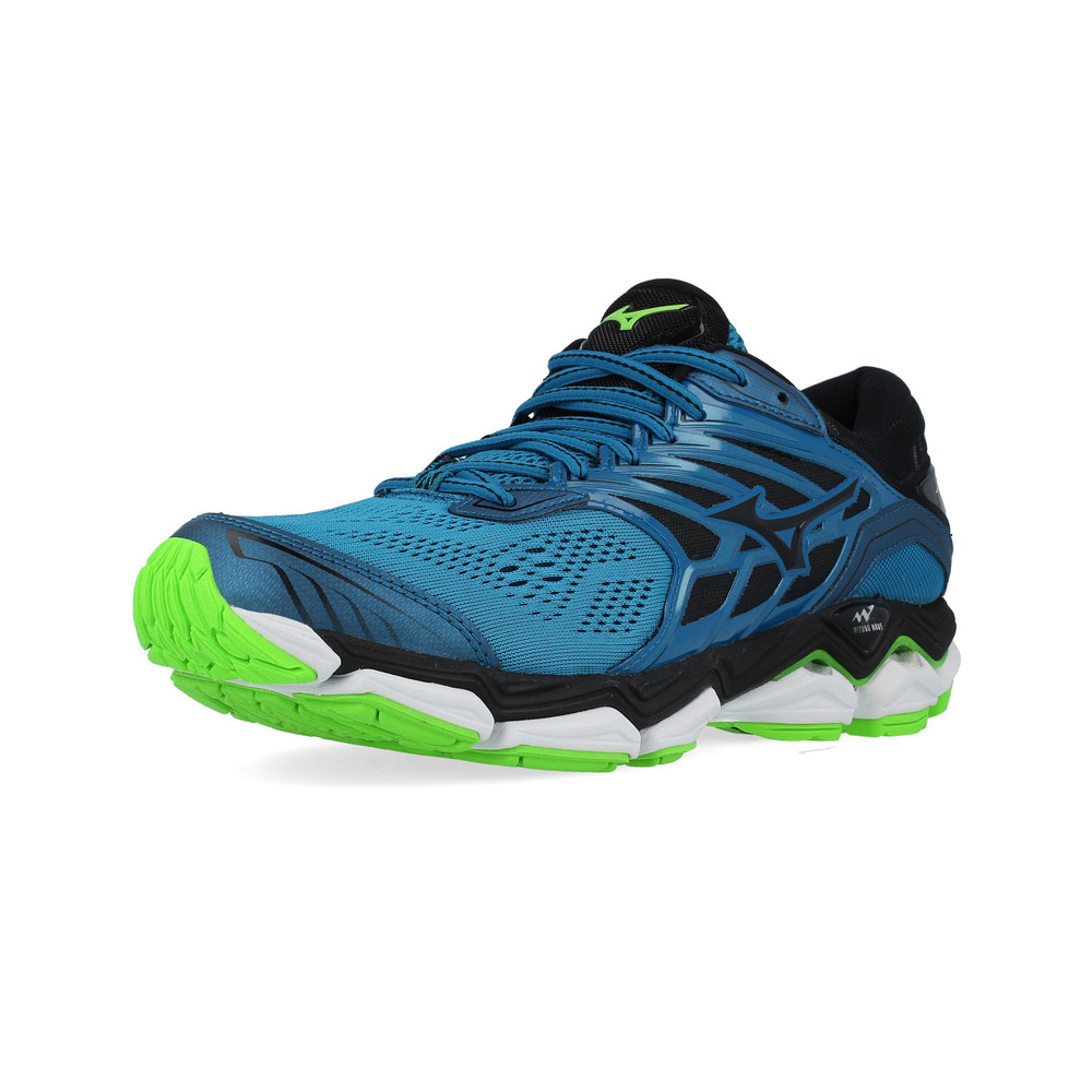 Mizuno Mens Wave Horizon 2 Running Shoes Trainers Sneakers Blue Sports a553d9b648f