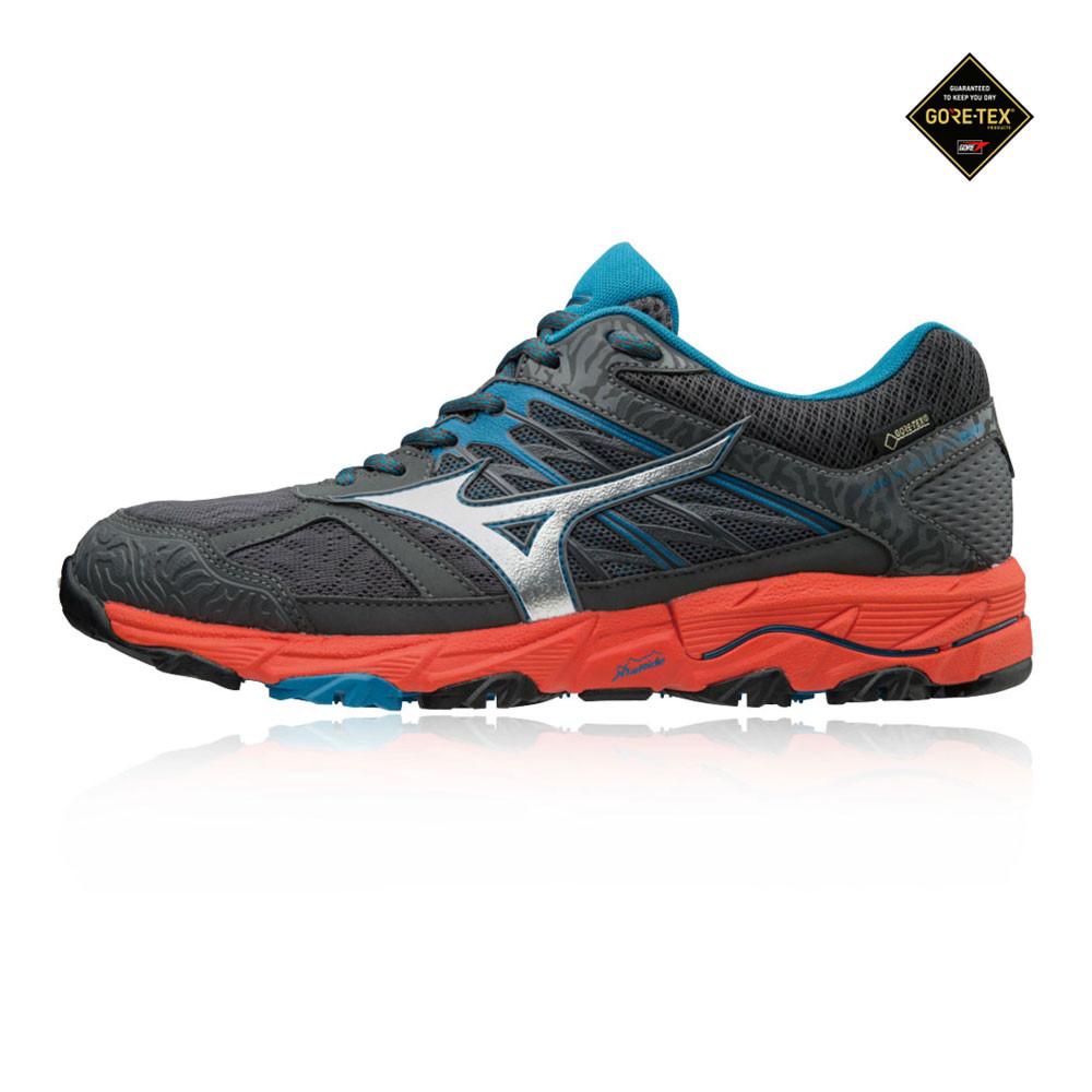 67a399ed14a4 Mizuno Hombre Wave Mujin 5 Gore-tex Sendero Correr Zapatos Zapatillas Negro