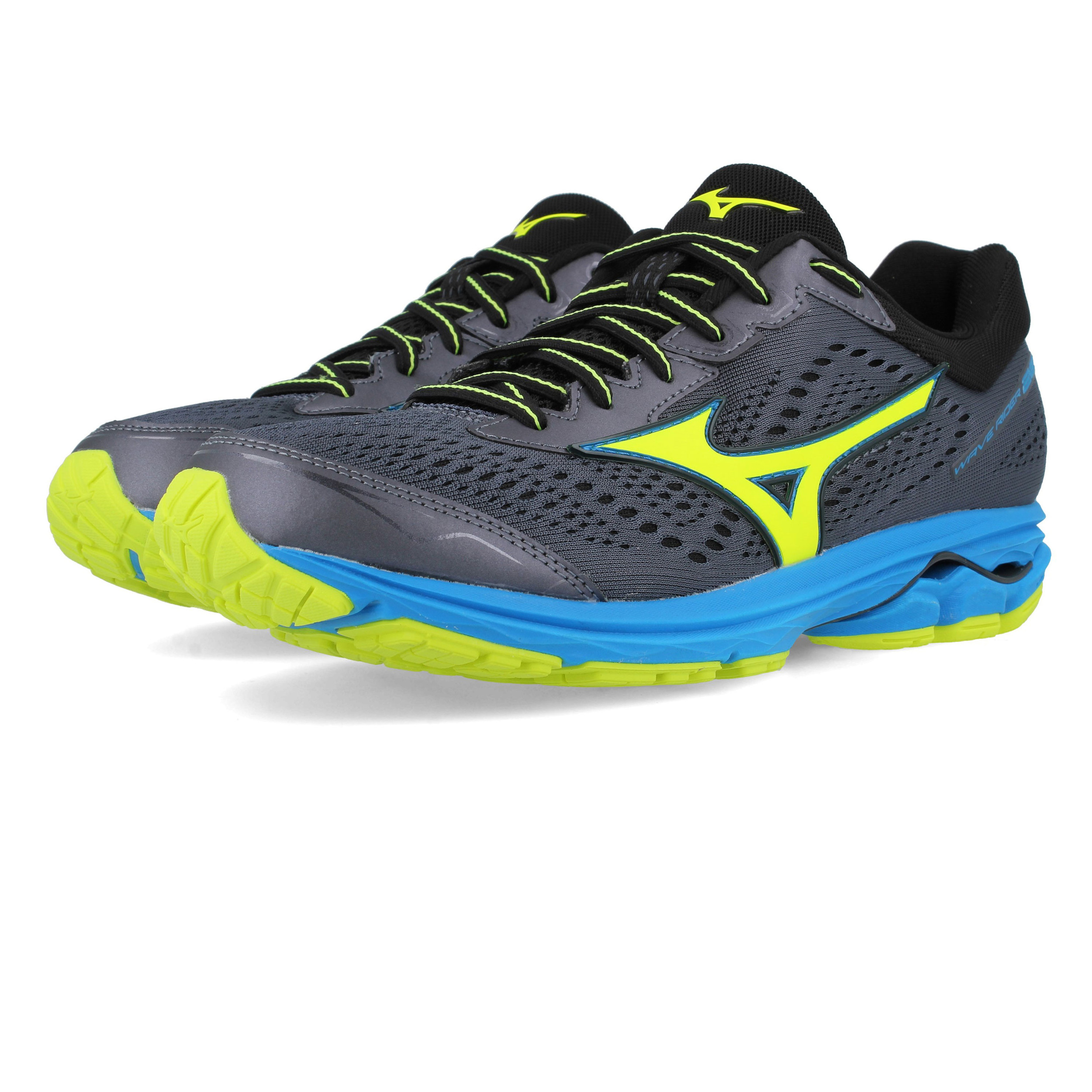 best website 9ec22 6c7be Details about Mizuno Mens Wave Rider 22 Running Shoes Trainers Sneakers  Grey Sports Breathable