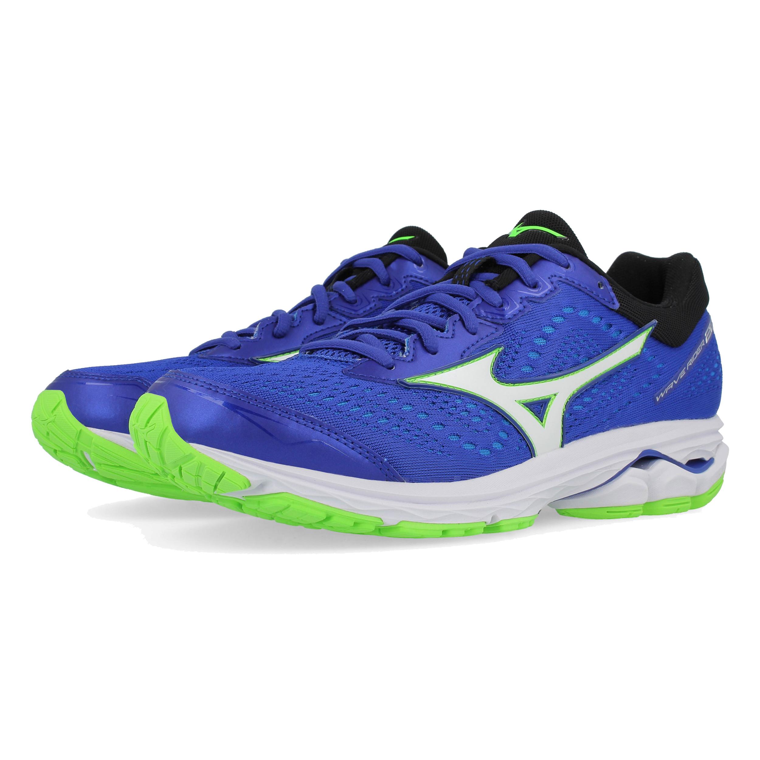 17e18b230 Mizuno Hombre Wave Rider 22 Correr Zapatos Zapatillas Azul Deporte  Transpirable