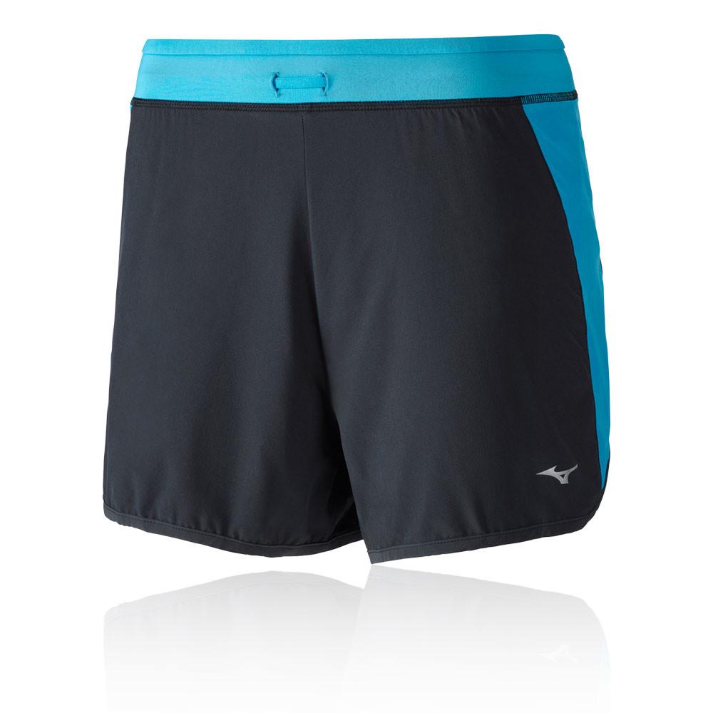 7df7582d880ab Mizuno Womens Alpha 4.0 Running Shorts Pants Trousers Bottoms Black Blue  Sports