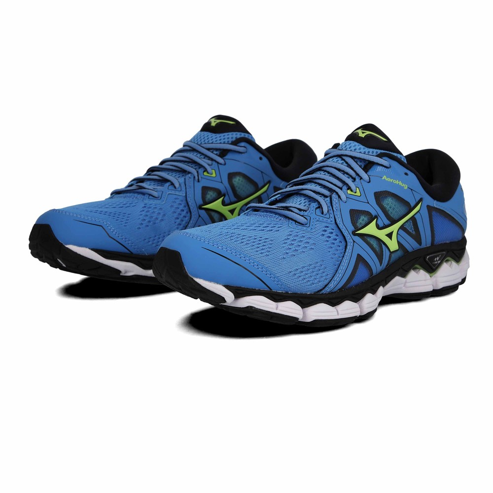 Mizuno Uomo Wave Sky 2 Scarpe Da Corsa Ginnastica Sport Sneakers Blu  Traspiranti 5401247ab23