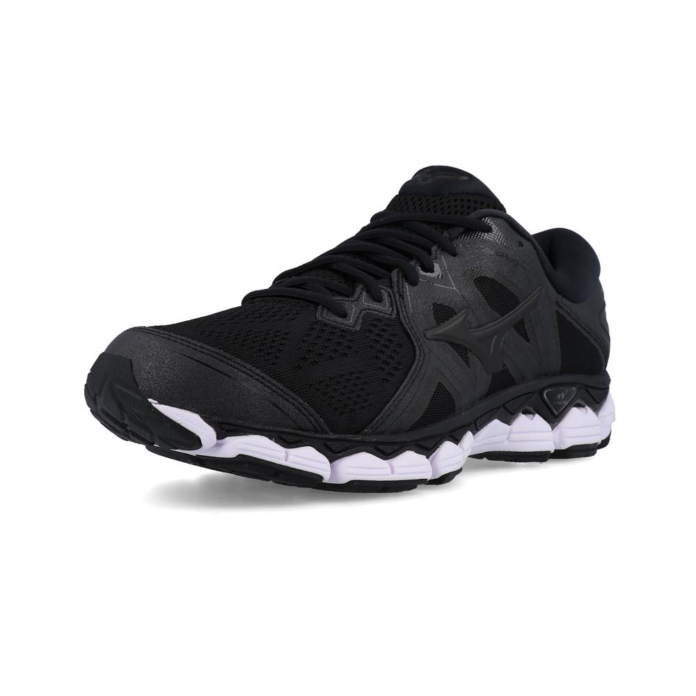 3d89f44e683 Mizuno Hombre Wave Sky 2 Correr Zapatos Zapatillas Negro Deporte  Transpirable