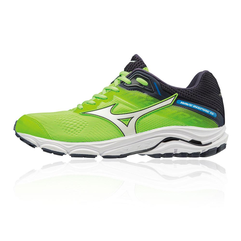 7d4044a854 Mizuno Herren Wave Inspire 15 Turnschuhe Laufschuhe Sneaker Grün Sport  Jogging