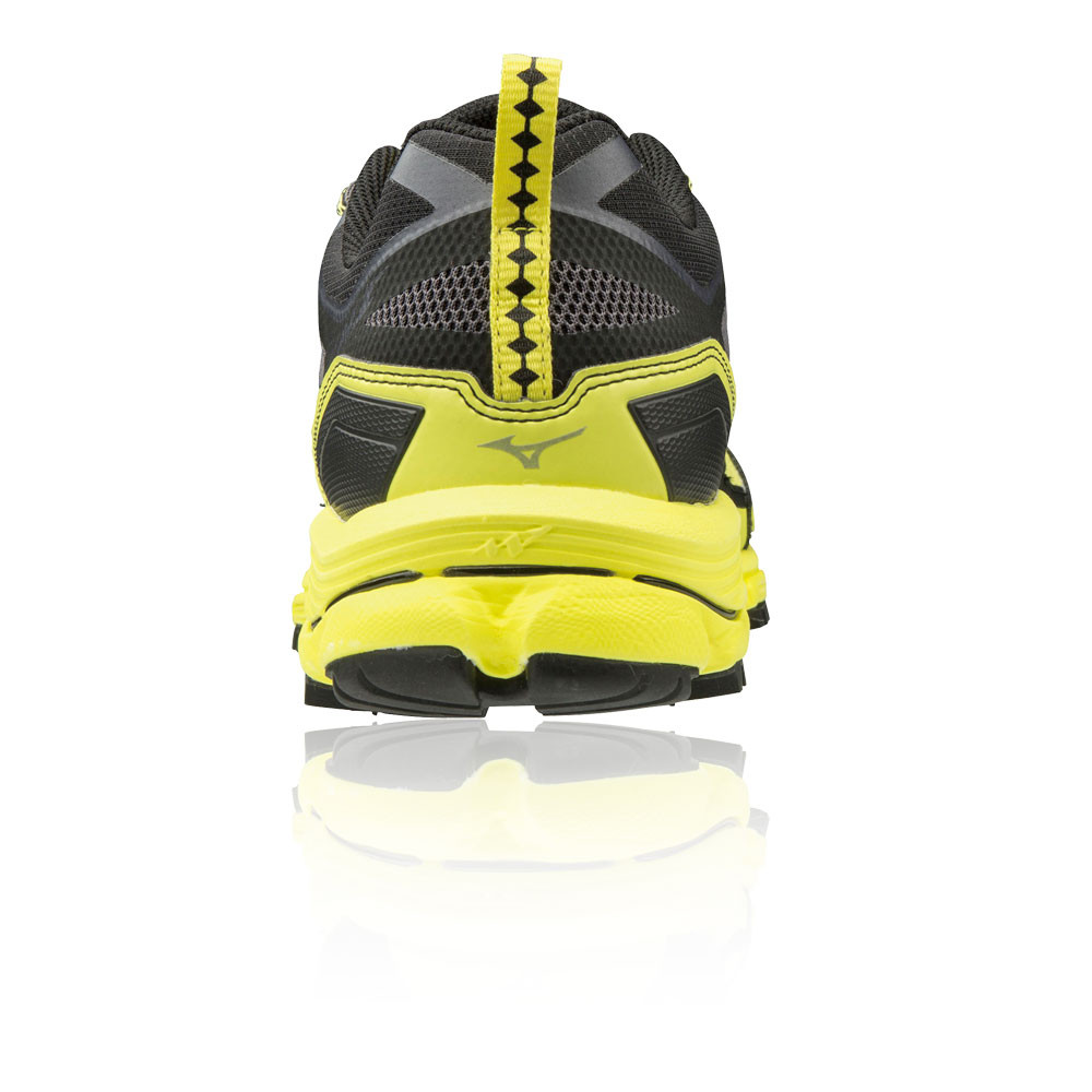 detailed look 78889 69add Mizuno Mens Wave Daichi 4 Trail Running Shoes Trainers Sneakers Black Yellow