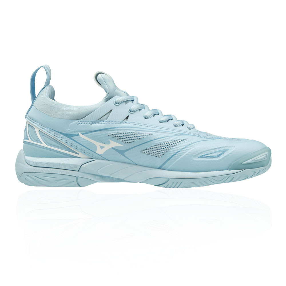c6dd553af7f9 Details about Mizuno Womens Wave Mirage 2.1 Indoor Court Shoes Blue Sports  Handball Netball