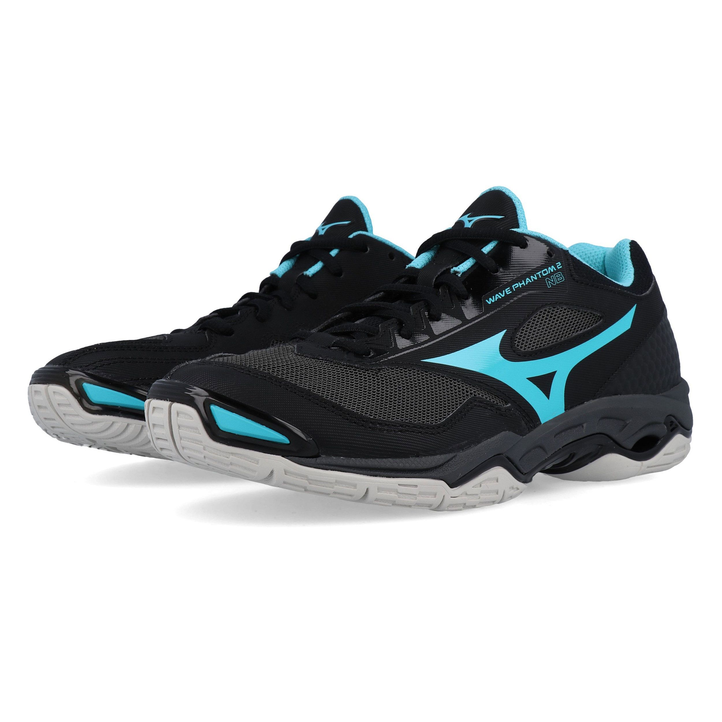 27943fad41eff Details about Mizuno Womens Wave Phantom 2 NB Indoor Court Shoes Black  Sports Netball