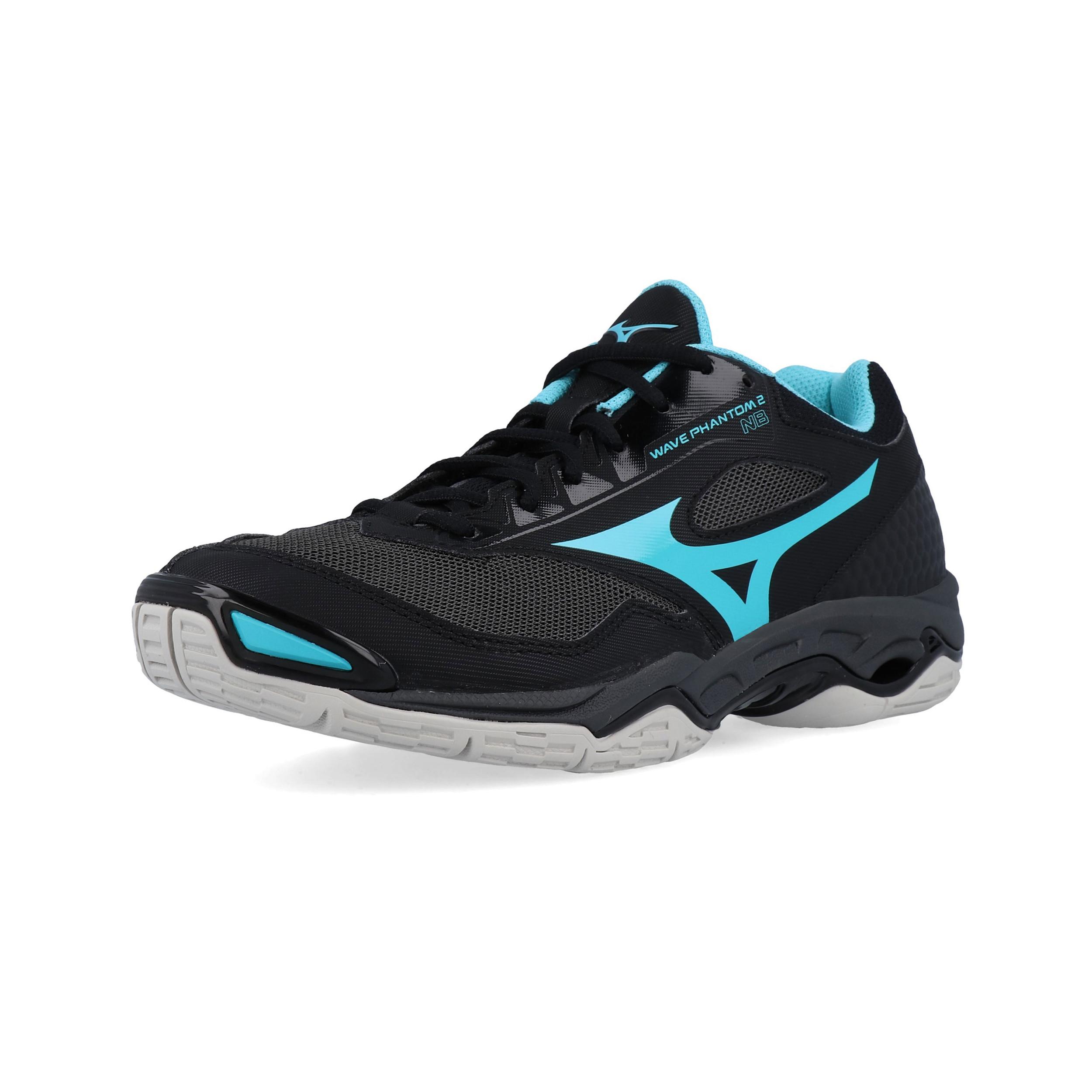 f7af775d6b Mizuno Womens Wave Phantom 2 NB Indoor Court Shoes Black Sports Netball