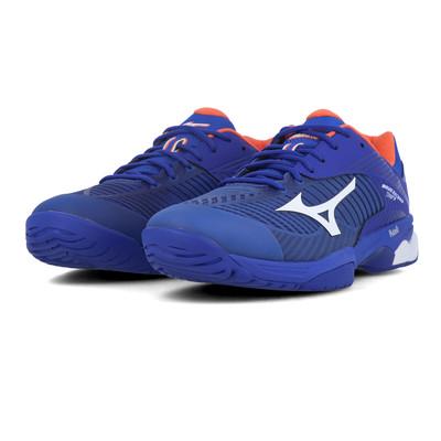 Mizuno Mens Break Shot EX Court Tennis Shoes Blue Navy Sports Breathable